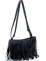 cheap -Women Bags PU leatherette Crossbody Bag for Casual Spring Summer Black Brown