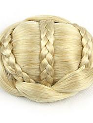 Kinky ouro encaracolado europa noiva cabelo humano sem tampa perucas chignons SP-189 1003