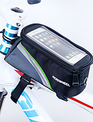 cheap -ROSWHEEL Bike Frame Bag Cell Phone Bag 4.8 inch Moistureproof/Moisture Permeability Waterproof Zipper Wearable Touch Screen Shockproof
