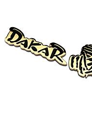 autocollant populaire de métaux 3d Dakar badge de course de voiture décoration autocollants voiture refit emblème de haute qualité