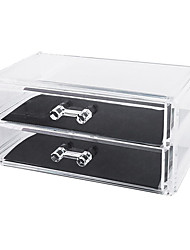 cheap -Acrylic Transparent Makeup Storage Double Layer Cosmetics Storage Drawer Cosmetic Organizer