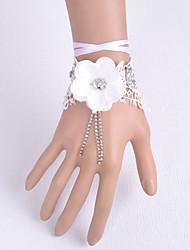 preiswerte -Hochzeitsblumen Mit Hand gebunden Rosen Armbandblume Hochzeit Partei / Abend Satin Spitzen