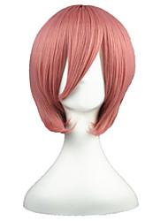 Perruques de Cosplay Reborn! Ace Rose Court Anime Perruques de Cosplay 35 CM Fibre résistante à la chaleur Masculin / Féminin