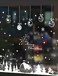 cheap -Free Shipping - Wall Stickers Wall Decals Style Christmas Cabin in The Snow PVC Wall Stickers