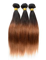abordables -A Ombre Cheveux Péruviens Droit 6 Mois 3 Pièces tissages de cheveux