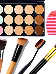cheap -15 Concealer/Contour+Concealer Brush Egg & Cleaners Makeup Brushes Wet Matte Shimmer Face Body Whitening Moisture Coverage Oil-control