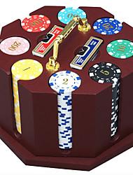 economico -240 pezzi di trucioli di legno tuta chip di poker dedicati partita di poker