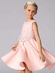 cheap -Girl's Pink Dress,Floral Polyester Summer / Spring / Fall