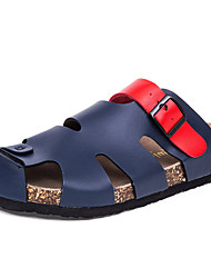 Men's Shoes Outdoor / Party & Evening / Athletic / Dress / Casual Leather Slippers Blue