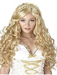abordables -Pelucas sintéticas / Pelucas de Broma Ondulado Pelo sintético Peluca Mujer Larga Sin Tapa