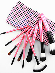 cheap -color shine high quality wool brush set 10pcs