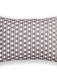 cheap -Knitted Love Heart Cushion Cover-Grey