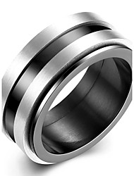 cheap -Men's Band Rings Jewelry Basic Fashion Titanium Steel Circle Jewelry For Party Engagement Daily Casual Office & Career