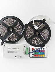 Недорогие -z®zdm 2x5m 144W 600x5050 SMD RGB светодиодные лампы полосы контроллер линии 1bin2 сигнал ir24 железа (DC12V 12а)