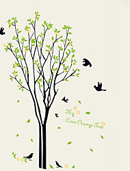 cheap -DIY My Orange Tree With Birds Wall Stickers Removable Living Room Bedroom Wall Decals
