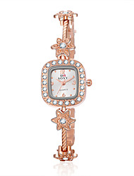 cheap -Women's Bracelet Watch Casual Watch Alloy Band Flower / Fashion / Elegant Gold / One Year / SSUO 377