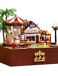 Недорогие -Diy дом китайской день Святого Валентина премиум ручной троян радость садовый домик подарок на день рождения