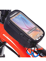 cheap -ROSWHEEL Bike Frame Bag Cell Phone Bag 5.2 inch Moistureproof/Moisture Permeability Waterproof Zipper Wearable Touch Screen Shockproof