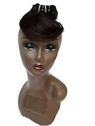 preiswerte -Echthaar Brasilianisches Haar Menschenhaar spinnt Wellig Haarverlängerungen 4 Stück Schwarz