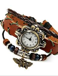 Недорогие -Жен. Модные часы / Часы-браслет Кожа Группа Богемные Коричневый