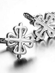 cheap -Men's Fashion Silver Alloy French Shirt Cufflinks (1-Pair)