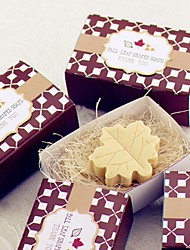 cheap -Recipient Gifts - 1 Piece/Set, Autumn Leaf-Shaped Soap Baby Birthday Party Favors Wedding Favors