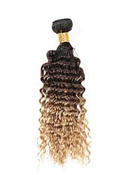 Menneskehår Brasiliansk hår Menneskehår, Bølget Bølget Hår Ekstensions 3 Dele # T1B -27