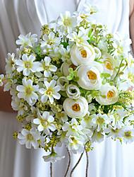 Hochzeitsblumen Rundförmig Lilien Sträuße Hochzeit Satin Baumwolle Tüll ca.23cm