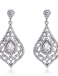 cheap -Luxury Drops Shape Cubic Zrconia Crystal Drop Earrings Jewelry for Lady(3.6*6.6cm)
