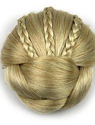 Недорогие -Kinky фигурная золота профессии шнурка человеческих волос парики шиньоны 1003