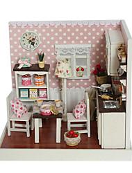 Недорогие -Чи весело дом поделки коттедж садовый домик по эксплуатации F-006 модель собрана сцена вкусны время