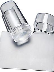 abordables -2 pcs Plate Stamping / Outils DIY Modèle Nail Art Design Design Tendance Elégant / Rond / Forme carrée