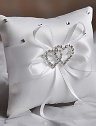 cheap -Fashion Ring-pillow With Rhinestone Double Heart Shape Wedding Ceremony