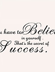 You Have To Believe Home Decor Creative Quote Wall Decal Decorative Adesivo De Parede Removable Vinyl Wall Sticker