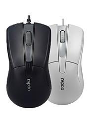 baratos -n1162 Rapoo orginal com fio mouse USB 2.0 mouses ópticos rato para jogos pro para o escritório computador pc preto / branco