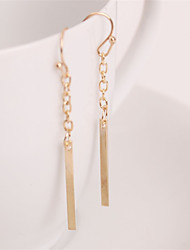 cheap -Women's Long Drop Earrings - European, Simple Style, Fashion Golden For Party / Daily / Casual