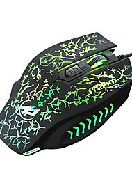 cheap -War Wolf 4D Wired Gaming Mouse 2400dpi Backlit Breathing Light for LOL/CF/DOTA
