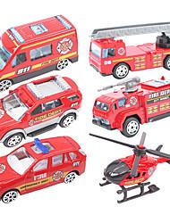 Недорогие -Наборы для моделирования Игрушки Пожарные машины пластик Металл 6 Куски Подарок