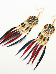 cheap -Women's Drop Earrings Tassel Cute Party Casual Fashion European Resin Feather Alloy Jewelry Party Daily Casual Costume Jewelry