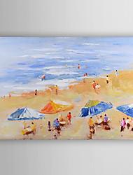 ručně malované olejomalba krajina letní pláž s nataženém rámem 7 stěny arts®