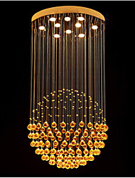 "Modern Ceiling Crystal Lamps Chandeliers Pendant Lighting with Spherical Design D27.56"" H51.18"" UL VDE"
