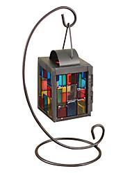 cheap -Stained Glass, Wrought Iron Candlestick The Wedding Festival Gifts Decoration