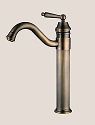 cheap -Traditional Vessel Rotatable Ceramic Valve One Hole Single Handle One Hole Antique Brass, Bathroom Sink Faucet
