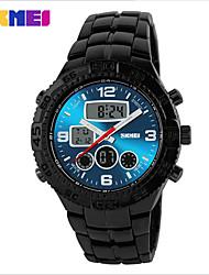 SKMEI Masculino Relógio de Moda Digital Impermeável PU Banda Preta Preto Azul