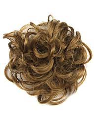 abordables -extensión del pelo sintético del moño del pelo del moño marrón del pelo 1 pieza del pelo de la PC
