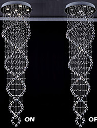 "The Double Helix Design Indoor Crystal Chandelier Lighting Fixtures  D21.65""  H86.6"""