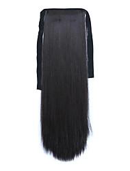 abordables -longitud 60 cm negro tipo se unen sintética larga cola de caballo peluca de pelo liso (color 99j)