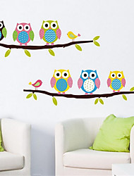 cheap -Removable owl Wall Sticker Environmental PVC Children's kids Room Bedroom Wall Stickers