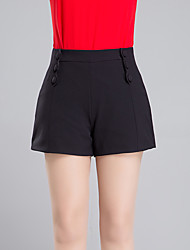 cheap -Women's Solid Red  White  Black Shorts Pants,Casual  Day  Simple