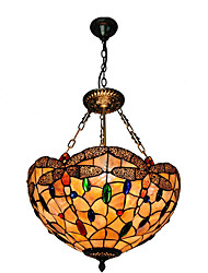 cheap -16 inch Retro Tiffany Pendant Lights Shell Shade Living Room Dining Room light Fixture